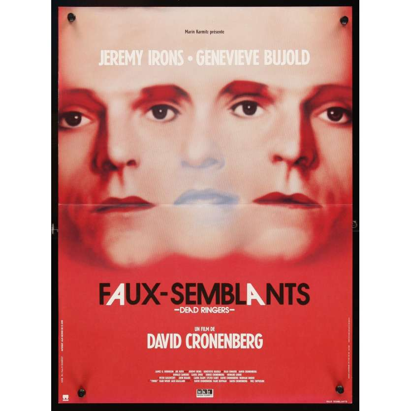 DEAD RINGERS French Movie Poster 15x21 '88 Jeremy Irons, David Cronenberg