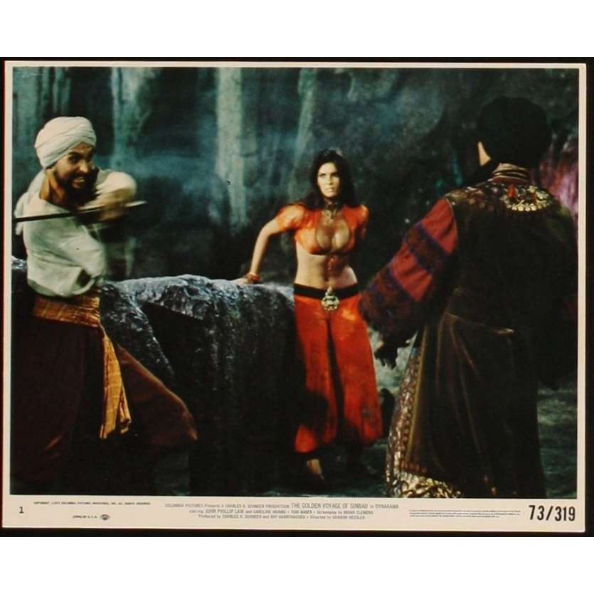 GOLDEN VOYAGE OF SINBAD 8x10 Lobby Card 2 '73 John Phillip Law, Ray Harryhausen