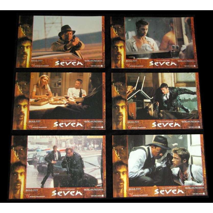 SEVEN Photos d'exploitation '95 David Fincher Brad Pitt Movie Poster