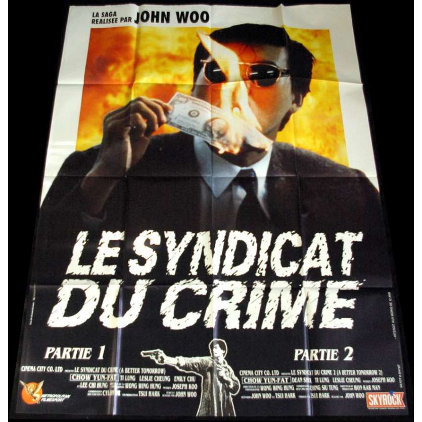 LE SYNDICAT DU CRIME Affiche FR '89 John Woo Movie Poster