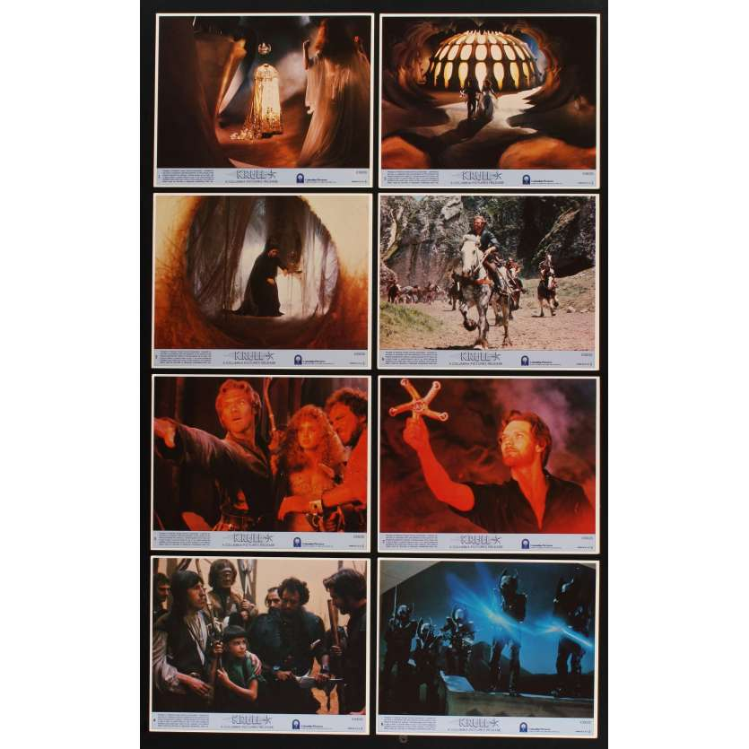 KRULL 8 8x10 mini LCs '83 Ken Marshall & Lysette Anthony, sci-fi directed by Peter Yates