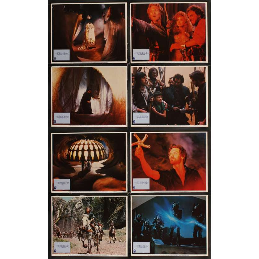 KRULL 8 LCs '83 Peter Yates sci-fi fantasy, Ken Marshall & pretty Lysette Anthony