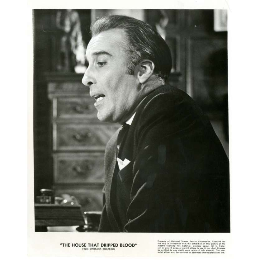 HOUSE THAT DRIPPED BLOOD 8x10 still '71 Christopher Lee Amicus Films