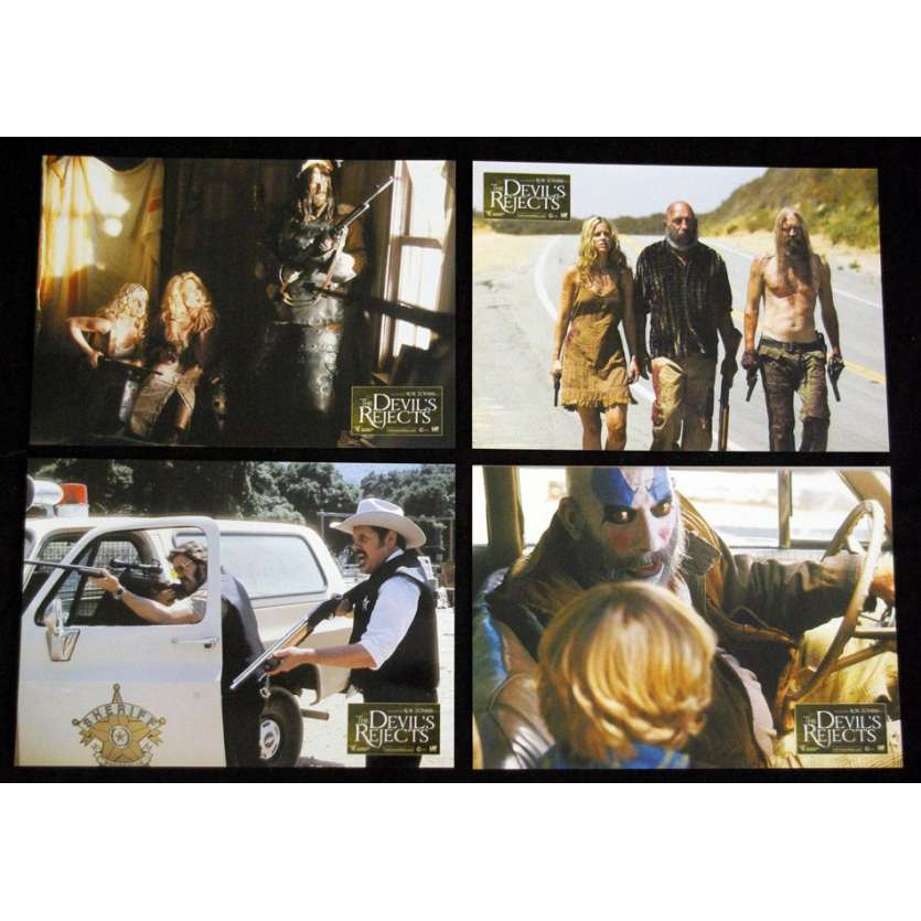 DEVIL'S REJECTS Photos d'exploitation x4 Rob Zombie Lobby cards