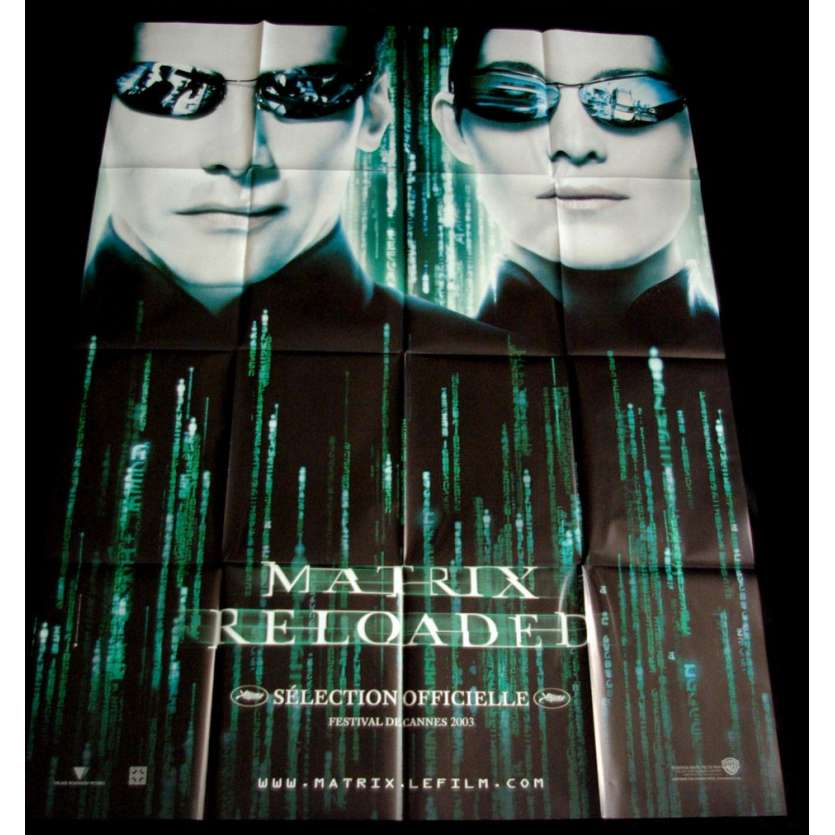 MATRIX RELOADED Affiche FR US '90 Keanu Reeves, Wachowski movie Poster