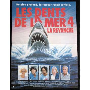 DENTS DE LA MER 4 '87 Affiche 40x60 spielberg Vintage Movie Poster Jaws