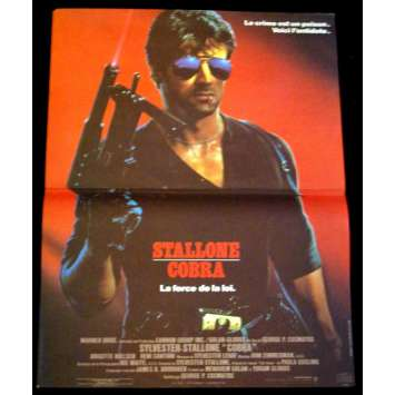 COBRA french Movie Poster 15x21 '86 Sylvester Stallone, Original