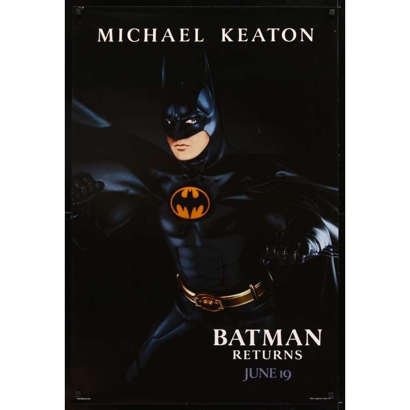BATMAN 2 le défi Affiche Originale US '92 Tim Burton, Michael Keaton returns Movie Poster