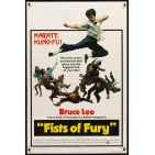 FISTS OF FURY 1sh &#039;73 Bruce Lee gives you biggest kick of your life, great kung fu image!