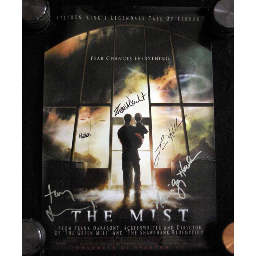 THE MIST Affiche signée par le casting ! '07 Franck Darabont Signed Movie poster