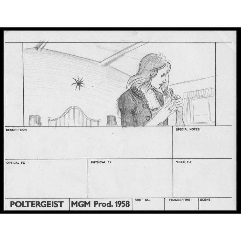 POLTERGEIST Original Handrawned Storyboard N2 '82 Steven Spielberg