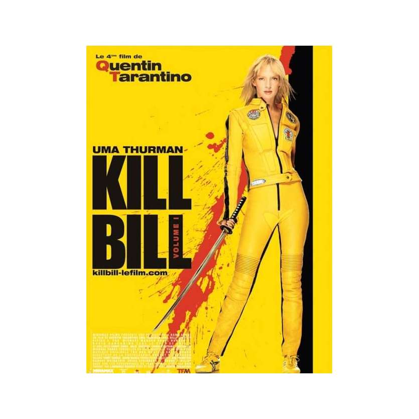 KILL BILL Affiche FR French Poster 15x21 '02 Tarantino, Uma Thurman, movie poster