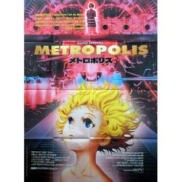 METROPOLIS Affiche FR 120x160 '01 Rintaro, Tezuka, Manga Movie Poster