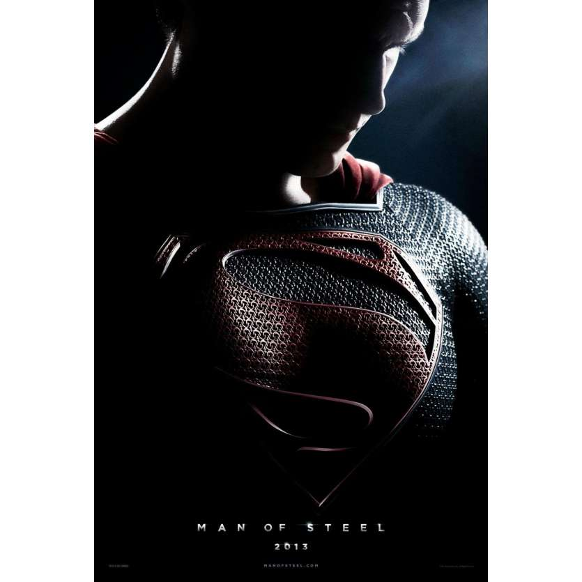 MAN OF STEEL French Adv. Poster 15x21 '13 Superman, Zack Snyder movie Poster