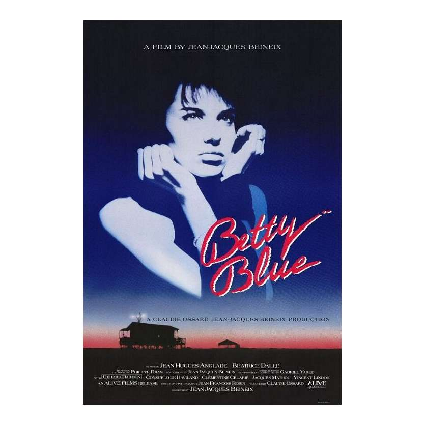 BETTY BLUE 1sh Movie Poster '86 Jean-Jacques Beineix, Beatrice Dalle
