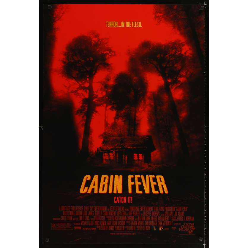 CABIN FEVER Affiche Américaine '02 Eli Roth cabin in the woods poster