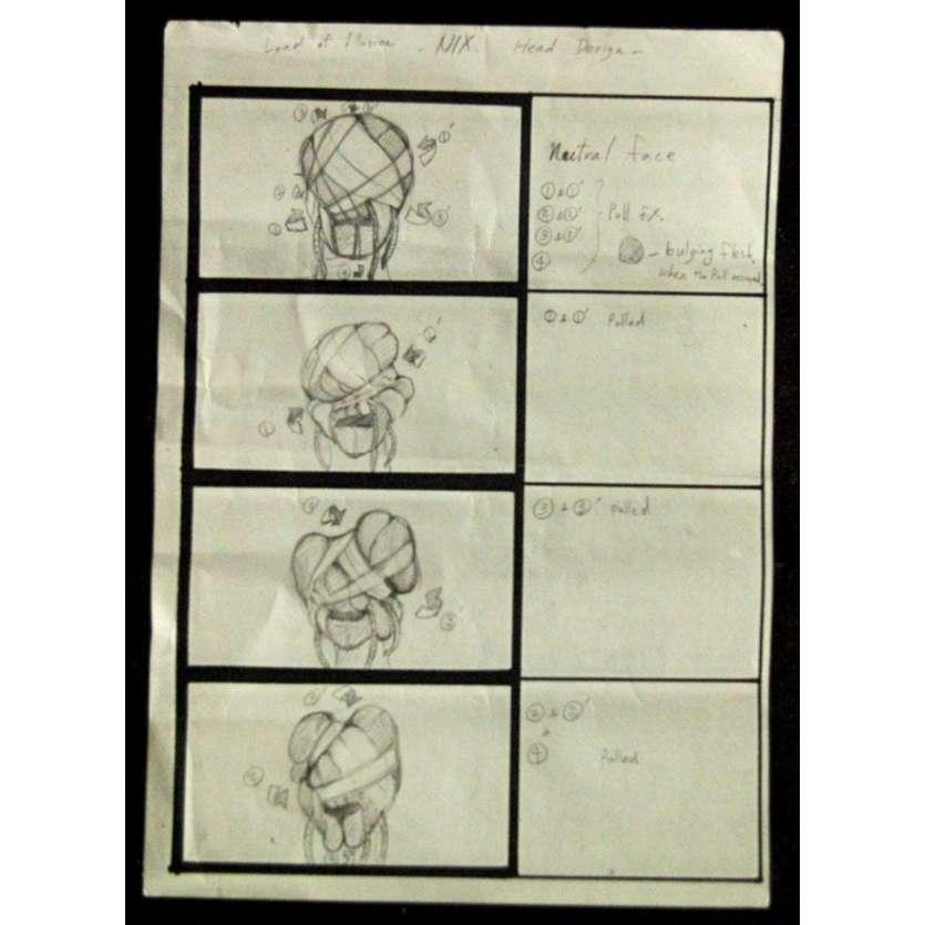 LE MAITRE DES ILLUSIONS Storyboard Original USA '95 Clive Barker