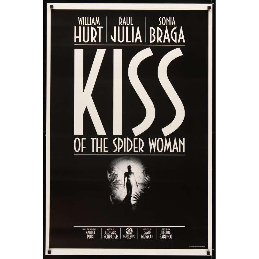 BAISER DE LA FEMME ARAIGNEE Affiche US '85 William Hurt, Raul Julia movie poster