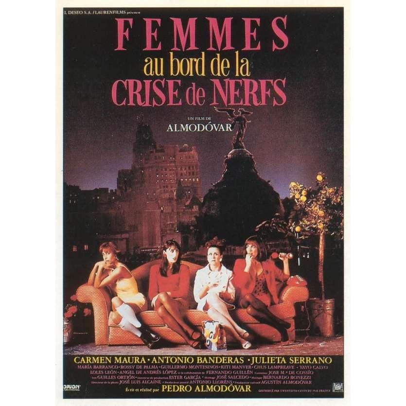 FEMMES AU BORD DE LA CRISE DE NERFS Affiche FR 120x160 '88 Pedro Almodovar poster