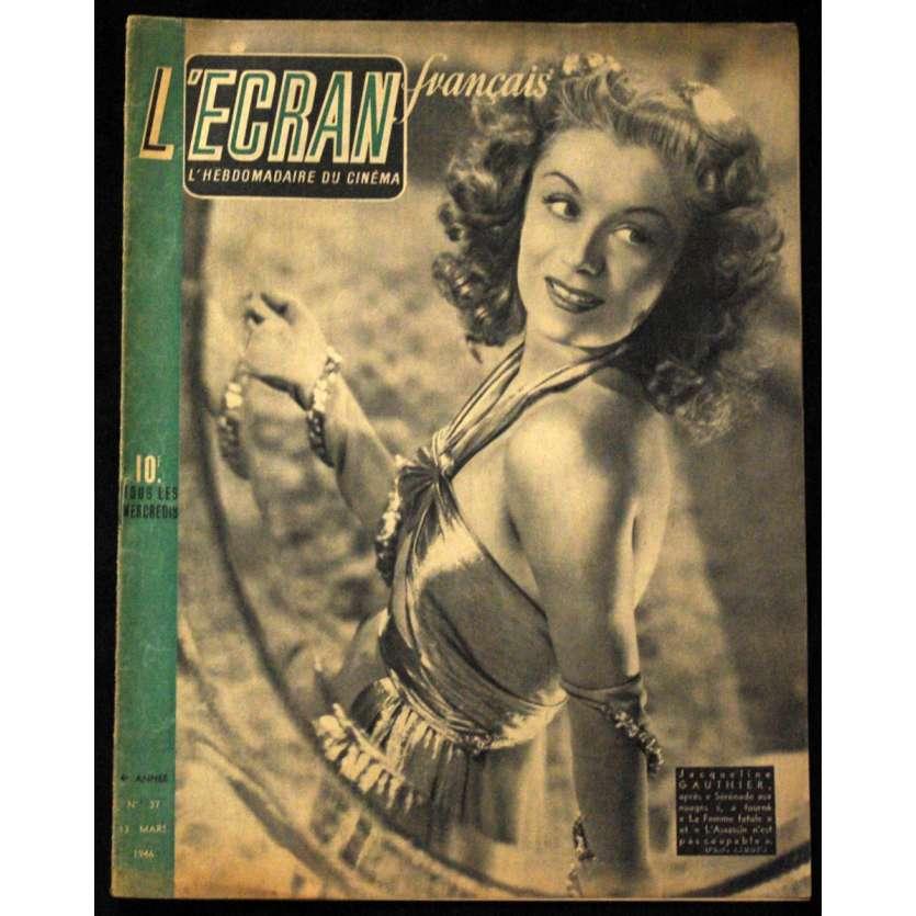 L'Ecran Français – N°037 – 1946 – Jacqueline Gauthier