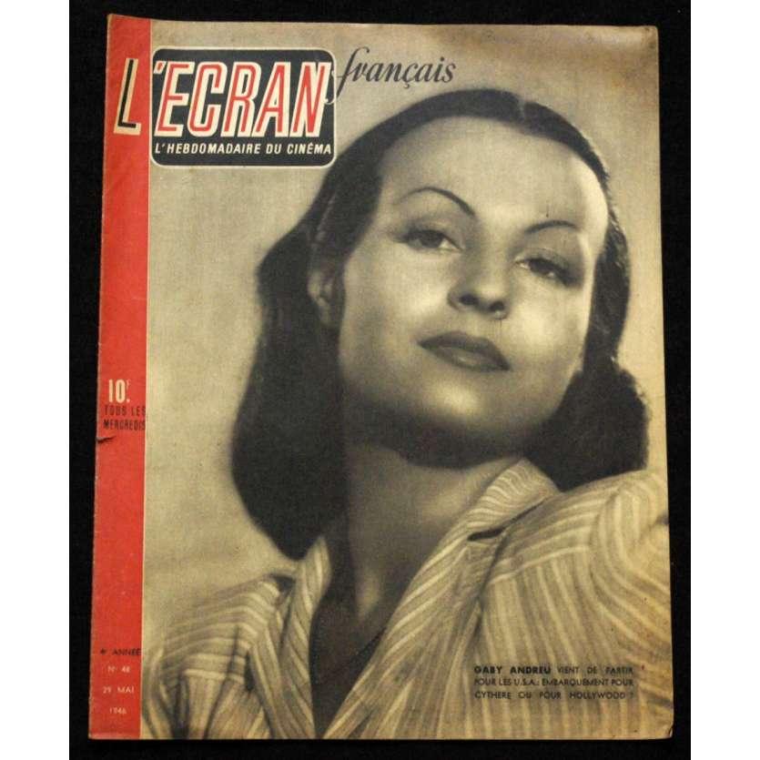 L'Ecran Français – N°048 – 1946 – Gaby Andreu
