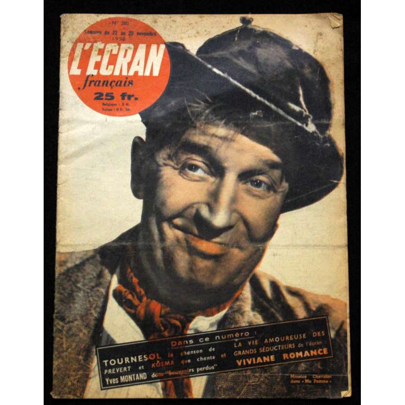 L'Ecran Français – N°280 – 1950 – Maurice Chevalier