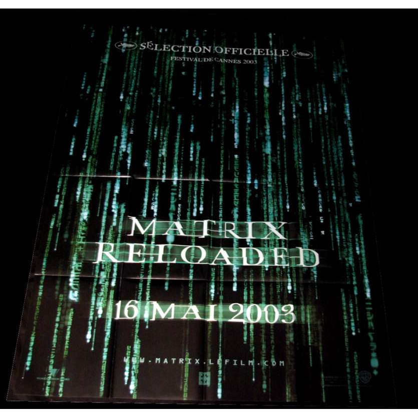 'MATRIX RELOADED Affiche 120x160 FR ''03 Keanu Reeves, Wachowski Movie Poster'