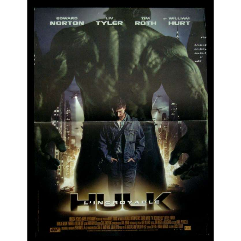'HULK Affiche 40x60 FR ''08 Edward Norton Movie Poster'