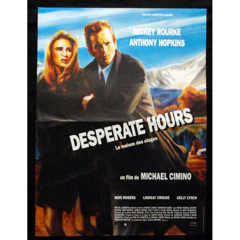 'DESPERATE HOURS Affiche 40x60 ''90 FR Michael Cimino, Mickey Rourke Poster'