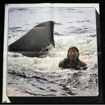 """JAWS French Lobby posters 23,5""""x23,5"""" '75 Steven Spielberg, Ultra-rare !"""