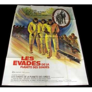 EVADES DE LA PLANETE DES SINGES Affiche de film 120x160 - 1971 - Planet apes