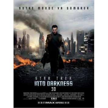 STAR TREK : INTO DARKNESS French Advance Movie Poster 47x63 '13 J. J. Abrams