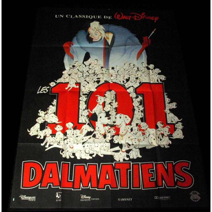 101 DALMATIANS French Movie Poster 47x63 R80 Walt Disney Classic
