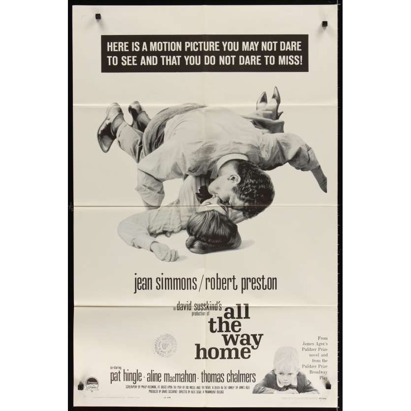 ALL THE WAY HOME Affiche Originale US '64 Movie poster