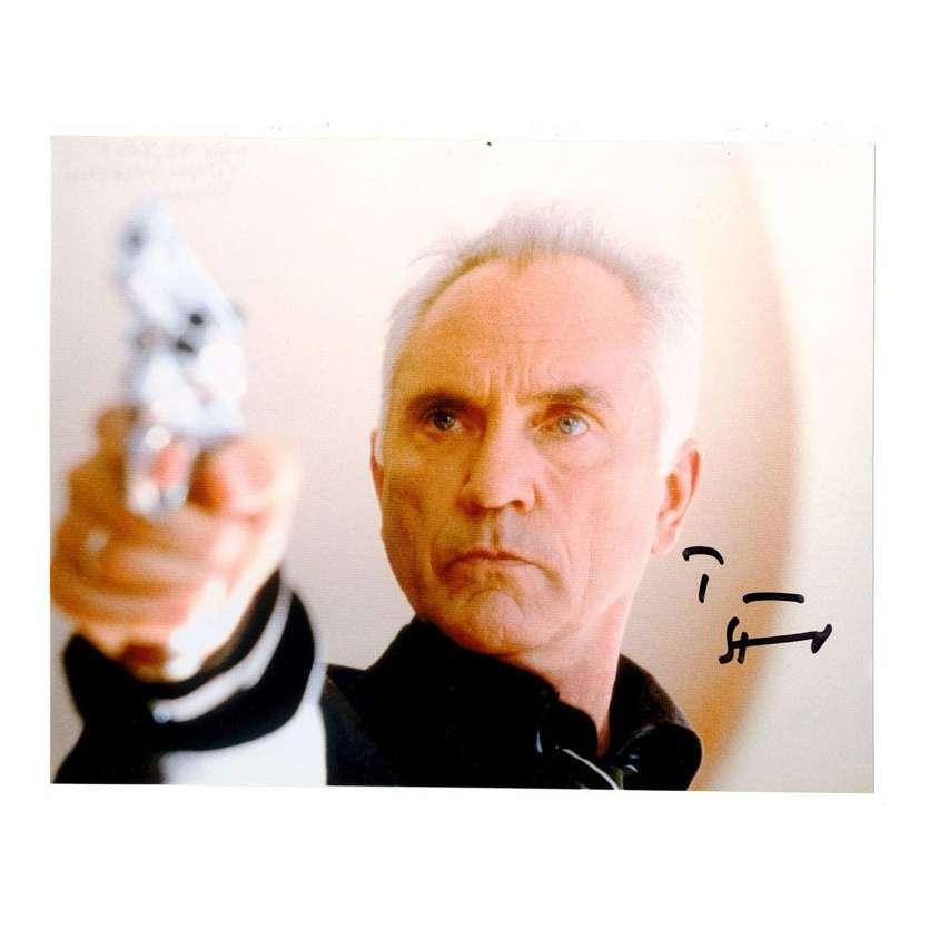 Mauvais-genres.com TERENCE STAMP Photo signée (L'Anglais de Soderbergh) 2000 Photos signées