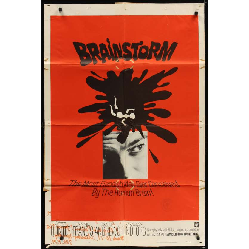 BRAINSTORM Affiche Originale US '66 Movie poster