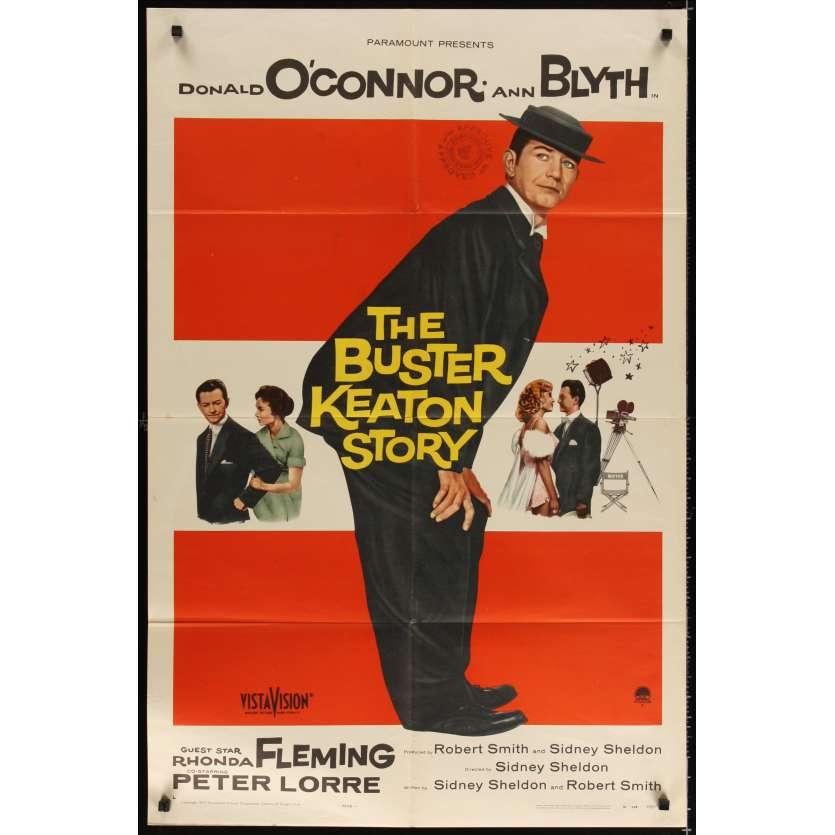 L'HOMME QUI N'A JAMAIS RI Affiche Originale US '57 Buster Keaton Peter Lorre Movie poster