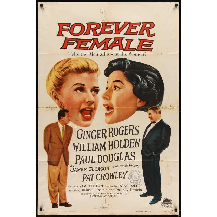 L'ETERNEL FEMININ Affiche originale US '53 William Holden, Ginger Rogers Movie poster
