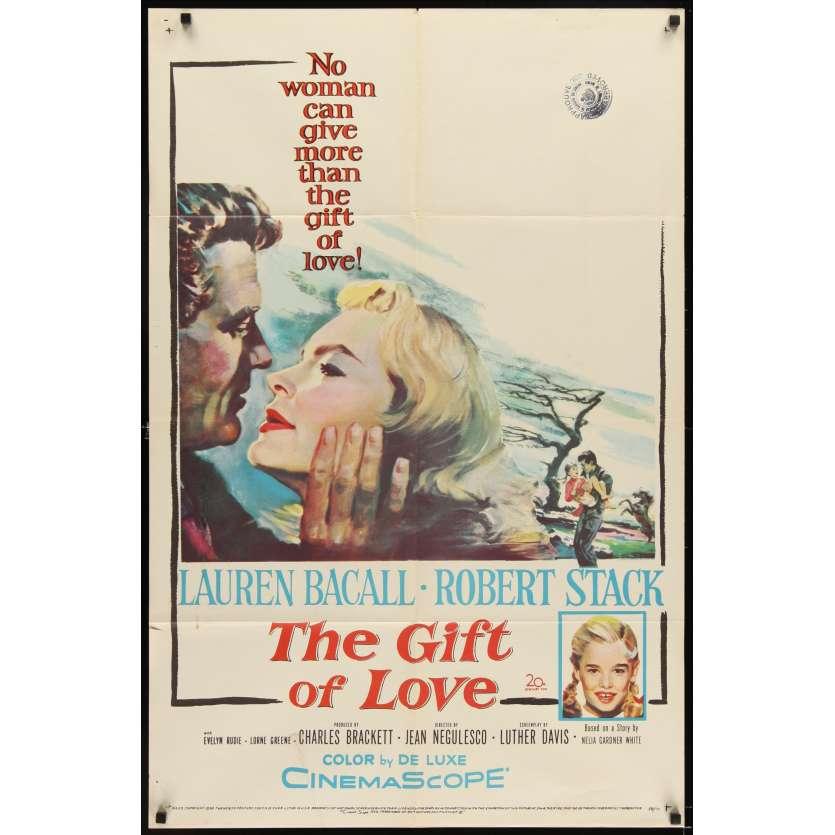 GIFT OF LOVE Affiche originale US '58 Lauren Bacall Movie poster
