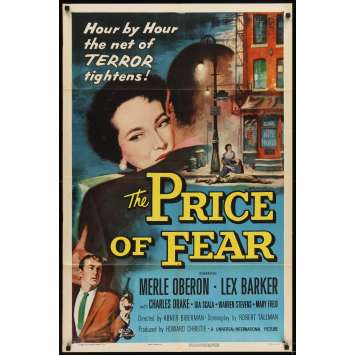 PRICE OF FEAR Movie Poster '56