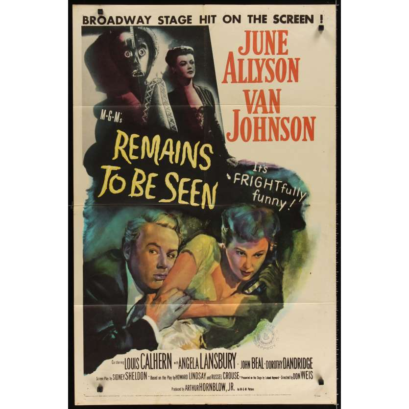 REMAINS TO BE SEEN Movie Poster '58 Van Johnson
