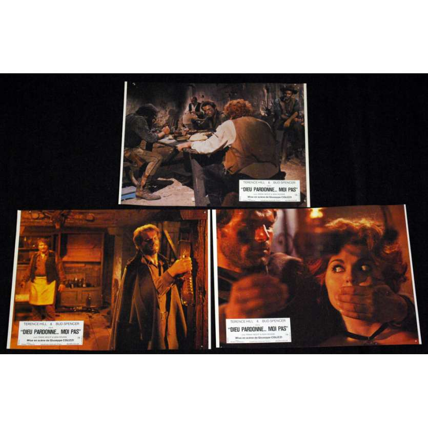 GOD FORGIVES… I DON'T ! Lobby cards FR '67, Terence Hill western spaghetti