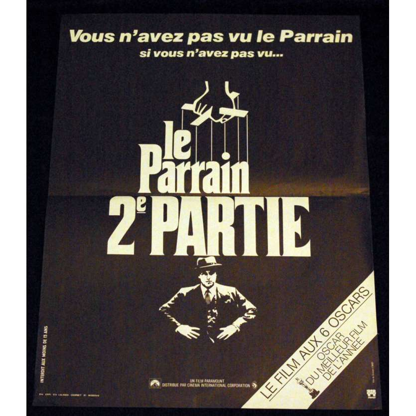 PARRAIN II Affiche 40x60 FR '74 Coppola, Marlon Brando Godfather Movie Poster