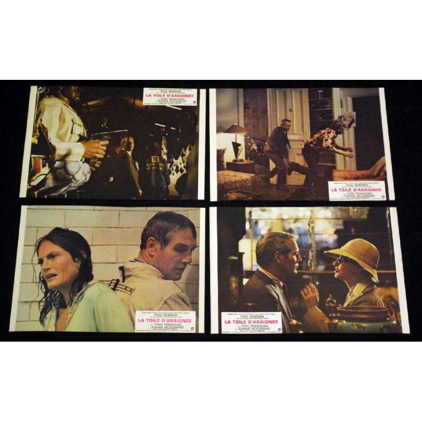 TOILE D'ARAIGNEE Photos exploitation x5 FR '75 Paul Newman Lobby Cards