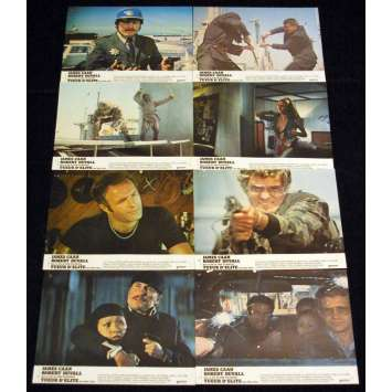 KILLER ELITE Lobby cards x8 FR '75 James Caan, Sam Peckinpah