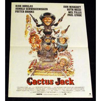 CACTUS JACK Affiche 40x60 FR '79 Schwarzenegger, Kirk Douglas Movie Poster