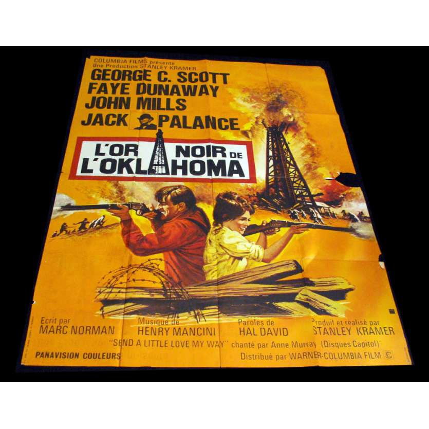 OKLAHOMA CRUDE French Movie Poster 47x63 '73 Faye Dunaway, Jack Palance