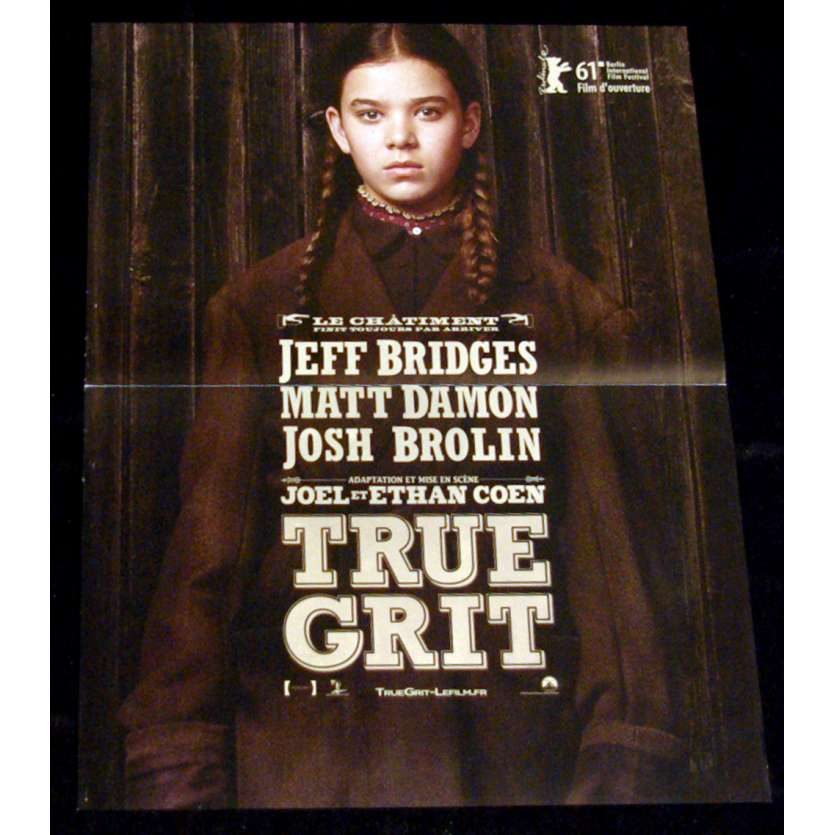 TRUE GRIT Affiche 40x60 FR '10 Cohen, Jeff Bridges, Matt Damon Movie Poster