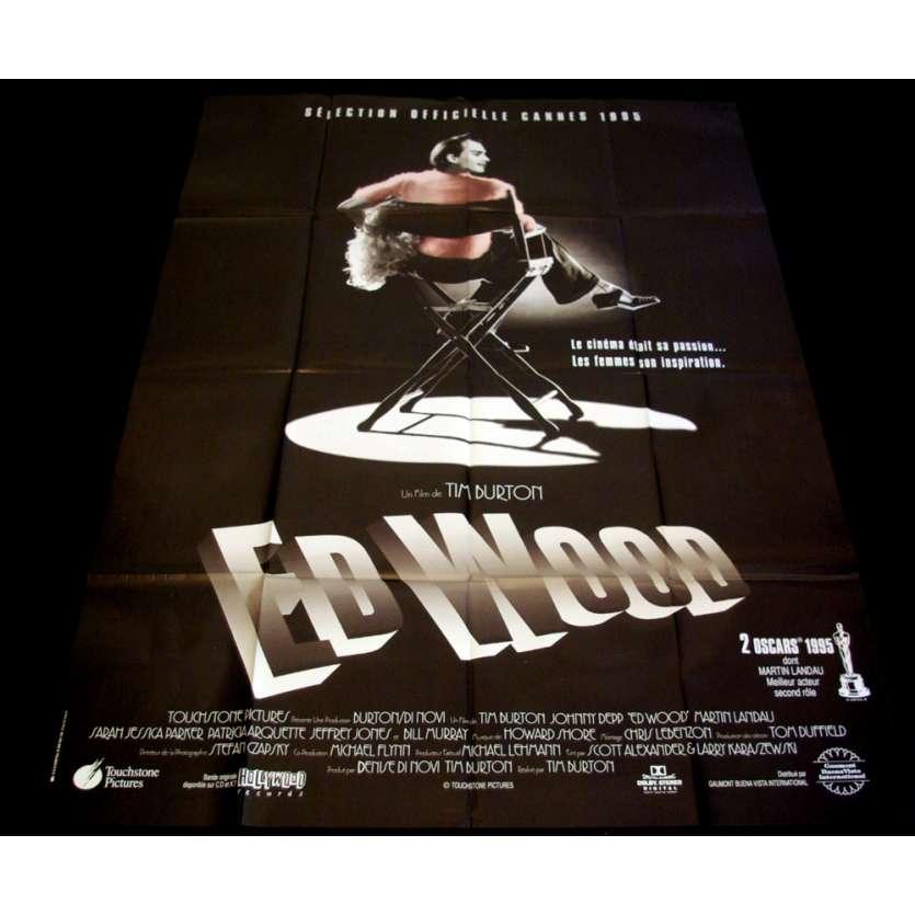 ED WOOD French Movie Poster 47x63 '94 Tim Burton, Johnny Deep
