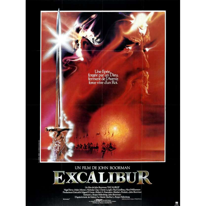 EXCALIBUR Affiche 120x160 FR '81 Boorman, heroic-fantasy movie poster